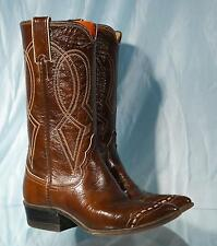 """Vintage 12"""" JUSTIN L4041 Brown Patent Leather Western Cowboy Cowgirl Boots 4.5C"""