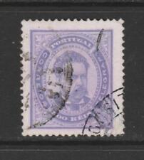 [Portugal 1884/87 – King  Luiz 500 Reis - Violet] 13 1/2 perf. perfect used