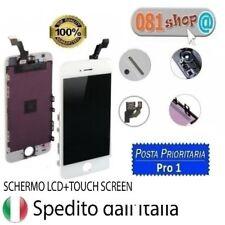 TOUCH SCREEN FRAME VETRO LCD DISPLAY RETINA SCHERMO PER APPLE IPHONE 5S BIANCO
