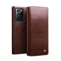 QIALINO Echt Leder Flip Schutz Case Hülle f Samsung S21 S20 Note 20 Ultra S9 S10