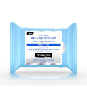 Neutrogena Fragrance Free Makeup Remover Face 25 Wipes for Waterproof Makeup