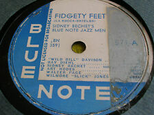 78 rpm-SIDNEY BECHET - fidgety feet- Nobody knows you -  BLUE NOTE 571
