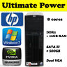 HP XW6600 E5440 2.83GHZ Xeon Twin QuadCore Workstation Desktop PC Tower 16GB RAM
