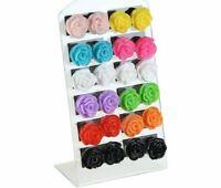 12 pair Set Multicoloured Rose Flower Resin Stud Earrings