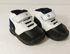 Nike Huarache Size 2c Toddler White Black with Strap and Laces