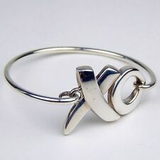Tiffany & Co Paloma Picasso XO Wire Hook Bangle Bracelet Sterling Silver #7946