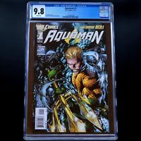 AQUAMAN  #1 💥CGC 9.8 WP💥 Mera & Pandora App! Ivan Reis Cover DC Comics 2011