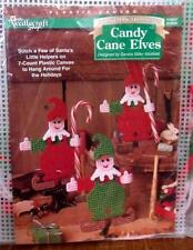 Candy Cane Elves by Sandra Miller Maxfield Plastic Canvas Needlepoint
