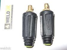 10-25 Dinse Plug X 2 De 16 Mm Cable pequeñas Soldadoras Tig, Mig, inversor, Arc E33