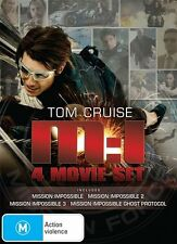 Mission Impossible M:I - 1+2+3+4 Ghost Protocol (Box Set) NEW DVD