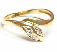 14kt 585 Brillantring Schlangenring Damen Gold Ring Schlange Brillant Brilliant
