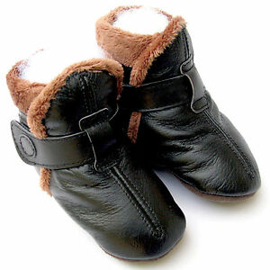 carozoo booties black 2-3y soft sole leather toddler shoes