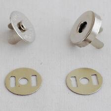 10 conjuntos Cierre Magnético Snap Botón Bolsa Ropa - 18mm