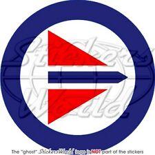 "NORWAY Norwegian AirForce RNAF Roundel 4""/100mm Sticker"