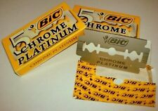 50 BIC CHROME PLATINUM DOUBLE EDGE RAZOR BLADES