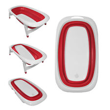 Baby Bath Time Foldable Splash & Play Red Transportable BathTub