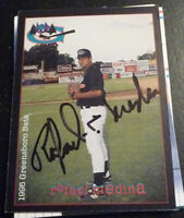 Rafael Medina SIGNED 1995 Multi-Ad Greensboro Bats AUTOGRAPH New York Yankees