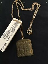 Stunning Vintage Celtic Pendant & Chain Necklace-Brass #4743