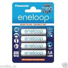 4 x Panasonic AA 1900mAh Eneloop Rechargeable Batteries NiMH Recharge 2100 times