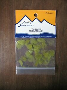 Fly Tying Spirit River CDC Puffs- Med. Olive