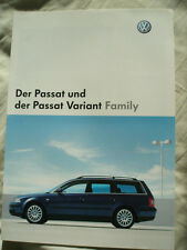 VW Passat & Passat Variant Family brochure Dec 2002 German text