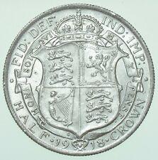 More details for 1918 george v halfcrown, british silver coin au