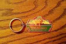 """MOOSE IN COLORADO KEY CHAIN """"THE CENTENNIAL STATE""""  Pinnacle Designs GOLD COLOR"""