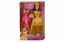 DISNEY PRINCESS MAGICLIP BELLE DOLL AND FASHION GIFTSET!!