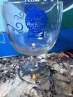 Pabst Blue Ribbon Beer Thumbprint Goblet Vintage Glass Beer Mug