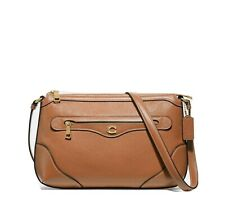 New Coach 72839 Leather IVIE Messenger Crossbody Bag, Light Saddle