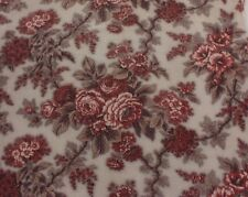 """French Antique 1870 Floral Rose Chintz Fabric~Home Design,Quilters~L-100""""X W-34"""""""