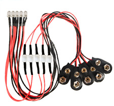 9 Volt LED Light - On/Off Switch - 5 Pack