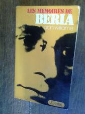 les mémoires de Beria Chef de la police secrète de Staline  / alan williams