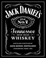 "4.75"" Jack Daniel's vinyl sticker. Tennessee Whiskey decal for laptop, bar."