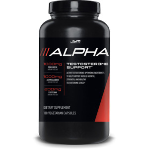 JYM Supplement Science JYM ALPHA Testosterone Booster Muscle Growth 180 Caps