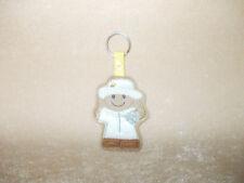 BeeKeeper Gingerbread Felt Keyring/Bag Charm.  Embroidered Appliqué - Handmade