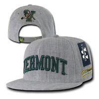 University of Vermont UVM Catamounts NCAA Flat Snapback Baseball Ball Cap Hat