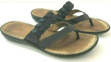 BORN Womens 10M Sandals Black Leather B98903