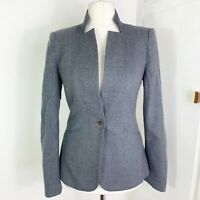 Ted Baker Grey Fitted Tailored Wool Blazer Jacket Formal Smart Size 2 UK 10