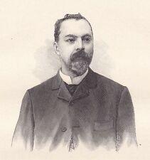 Portrait Louis-Ernest Lesage Sahib Ned Illustrateur Caricaturiste Caricature