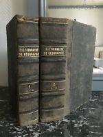 Blanco-Nuevo Diccionario Universal de Historia Y De Geografía 2/2 Hachette 1851