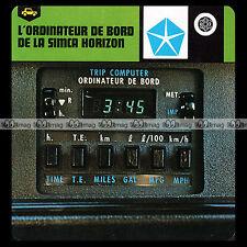 #57.04 L'ORDINATEUR DE BORD DE LA SIMCA HORIZON - Fiche Auto 1979 Car Card
