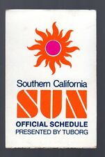 1974 Southern California Sun Pocket Schedule WFL
