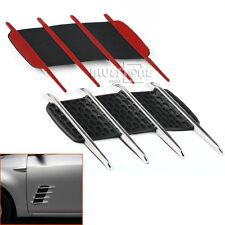 2PCS Hood Side Car Exterior Air Flow Vent Fender Fin Shark Shaped Sticker