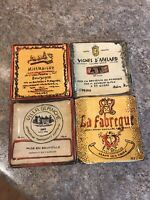 """Retired Williams-Sonoma Retro French Hors D""""Oeuvre Small Square Plates Set Of 4"""