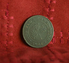 1 Cent 1901 Hong Kong Bronze World Coin Victoria one penny KM4.3 China Asia