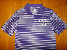NFL TEAM APPAREL BALTIMORE RAVENS SHORT SLEEVE POLO SHIRT MENS SMALL EXCELLENT