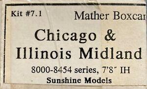 Sunshine Models HO Flat Resin Kit #7.1 C&IM Mather single sheathed box car