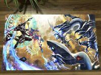 NEW Yu-Gi-Oh Playmat Blue-Eyes White Dragon & Dark Magician TCG CCG Yugioh Mat