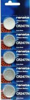 CR2477N RENATA WATCH BATTERIES CR 2477 (5 piece) New packaging Authorized Seller